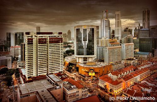 Singapur als Sinnbild schnellen Wachstums.